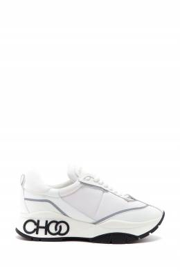 Белые кроссовки с черным логотипом Raine Jimmy Choo 25138517