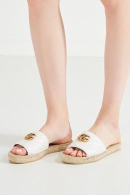 Пантолеты с кожаным верхом и джутовой подошвой Gucci 470139247