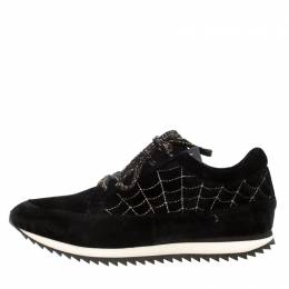 Charlotte Olympia Black Velvet Work It! Sneakers Size 40