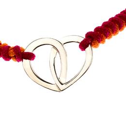 Montblanc Coeur de Pétales Entrelacés Silver Bi-color Cord Bracelet 206435