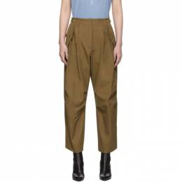 Givenchy Brown Military Cargo Trousers 192278F08700103GB