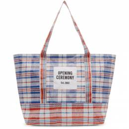 Opening Ceremony White and Red Medium Chinatown Tote PE00ZBK17007