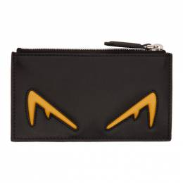 Fendi Black and Yellow Bag Bugs Coin Wallet 192693M16401901GB