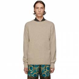 Dries Van Noten Beige Merino and Cashmere Sweater 192358M20102102GB