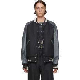 Dries Van Noten Grey Wool Bomber Jacket 192358M17500101GB