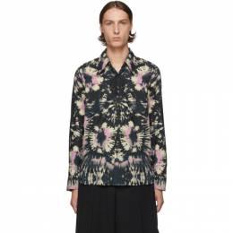Dries Van Noten Navy Tie-Dye Shirt 192358M19200801GB