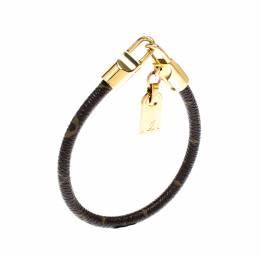 Louis Vuitton Monogram Luck It Gold Tone Bracelet
