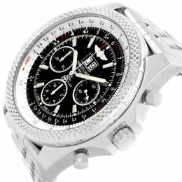 Breitling Black Stainless Steel Bentley 6.75 Speed Chronograph A44364 Men's Wristwatch 48.7MM 206662