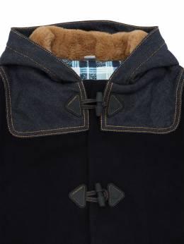 Hooded Wool Blend Coat Jacob Cohen 70IX9V005-QkxVRQ2