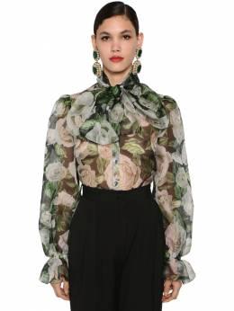 Блузка Из Шелковой Органзы Dolce&Gabbana 70IG4F037-SE4wOUM1