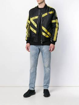Philipp Plein - куртка-бомбер с отделкой кантом CMRB6959PNY660N93569
