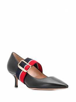 Bally туфли-лодочки с контрастными ремешками 6228140