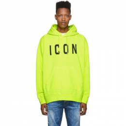 Dsquared2 Yellow Dyed Icon Hoodie 192148M20200604GB
