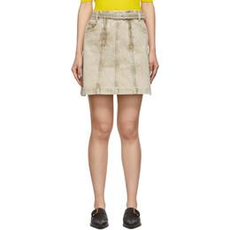 Proenza Schouler Taupe Denim Zipper Skirt 192288F09000103GB