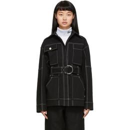 Proenza Schouler Black Utility Belt Jacket 192288F06300303GB