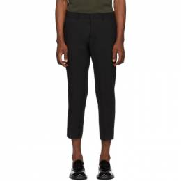 Ami Alexandre Mattiussi Black Cropped Fit Trousers 192482M19100105GB