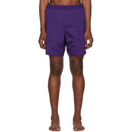 Ami Alexandre Mattiussi Purple Logo Long Swim Shorts 192482M20800206GB