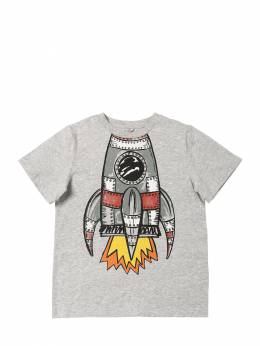 Футболка Из Хлопкового Джерси С Принтом Stella McCartney Kids 70I6SJ002-MTQ2MQ2