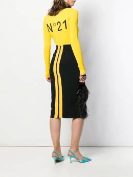 Nº21 - knitted logo cardigan A6653568950033600000