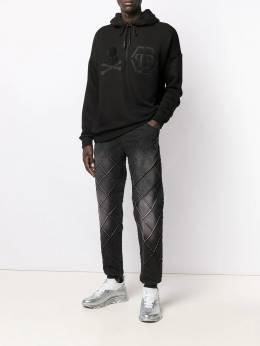 Philipp Plein - спортивные джинсовые брюки с кулиской CMDT9336PDE665N95653