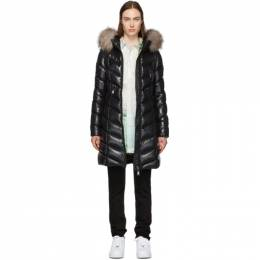Moncler Black Down and Fur Fulmarus Coat 192111F06106502GB