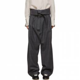 Loewe Grey Belted Pleated Trousers 192677F08700104GB
