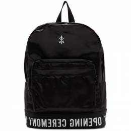 Opening Ceremony Black Logo Backpack W17ZCH27002