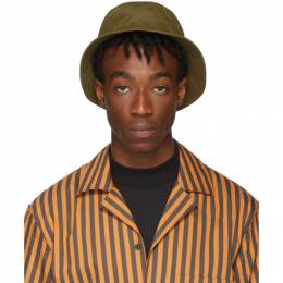 Acne Studios Green Face Bucket Hat 192129M14000101GB