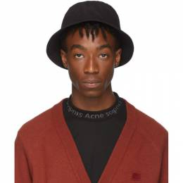 Acne Studios Black Buk Face Bucket Hat 192129M14000201GB