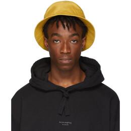 Acne Studios Yellow Buk Face Bucket Hat 192129M14000301GB