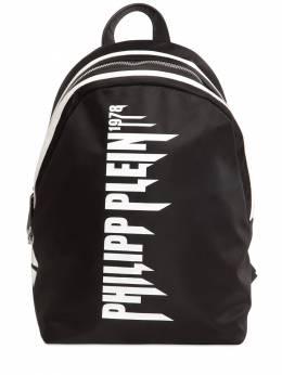 Рюкзак Из Нейлона С Принтом Логотипа Philipp Plein Junior 70I1WI037-MDIwMQ2
