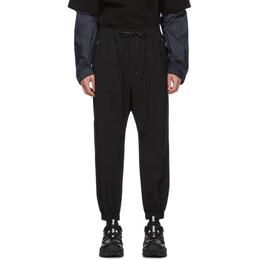 Juun.J Black Wool Plain Trousers 192343M19000104GB