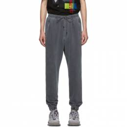 Juun.J Grey Plain Lounge Pants 192343M19000303GB