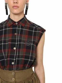 Рубашка Из Шерстяной Фланели Loewe 70IVHM032-NTExNA2