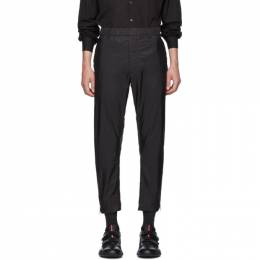 Prada Black Nylon Full Side Zip Trousers 192962M19102001GB