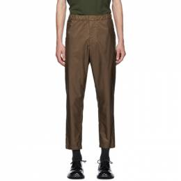 Prada Brown Elasticized Waist Nylon Trousers 192962M19101707GB