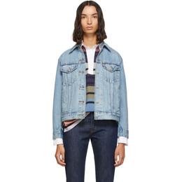 Levi's Blue Denim Ex-Boyfriend Jacket 192099F06000503GB