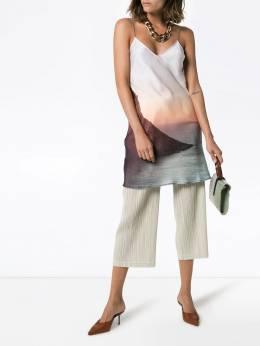 Esteban Cortazar - платье-комбинация с принтом PDRESS08936863939598