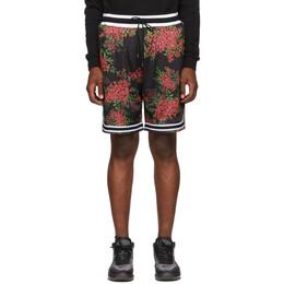 John Elliott Black Bougainvillea Game Shorts 192761M19300103GB