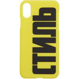 Heron Preston Yellow Style iPhone XS Case HMPA003F197390221510