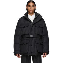 Dries Van Noten Grey Down Wool Coat 192358M17600404GB