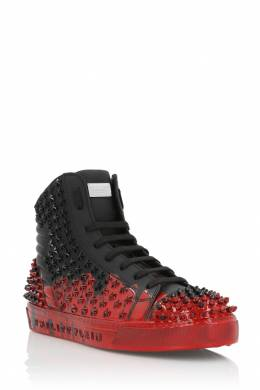 Красно-черные высокие кеды Philipp Plein 1795140977