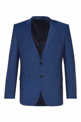 Синий шерстяной костюм Hugo Boss 622140742