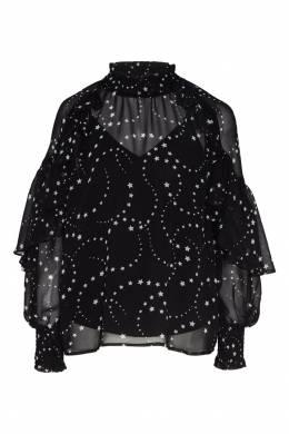 Черная блуза со звездами Maje 888140136
