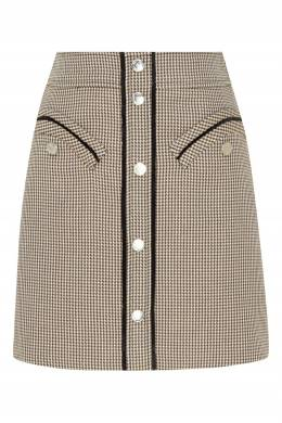 Серая юбка на кнопках Maje 888140132