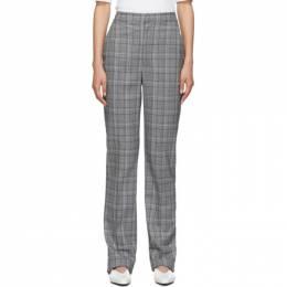Tibi Grey Check James Menswear Sebastian Trousers 192095F08700402GB
