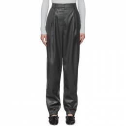 Tibi Black Liquid Drape Pleated Trousers 192095F08700604GB