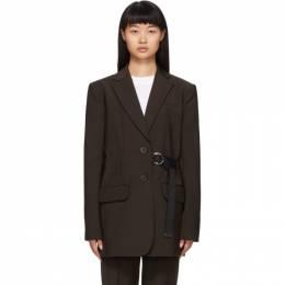 Tibi Brown Belted Wool Blazer 192095F05700303GB