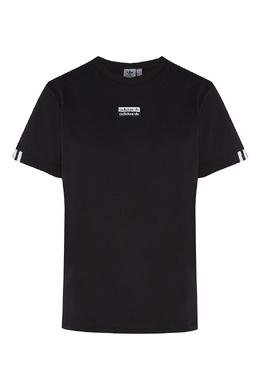 Черная футболка с двойным логотипом Adidas 819141077