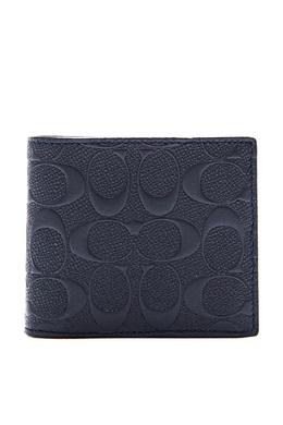 Черный кошелек из кожи Signature Coach 2219141402